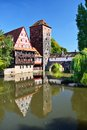 Nuremberg germany executioner s bridge in Royalty Free Stock Photos
