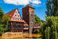Nuremberg germany the weinstadel building wine store in Royalty Free Stock Photography