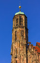 Nuremberg (Nuernberg), Germany- details- top Church of Our Lady Royalty Free Stock Photo