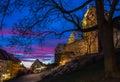 Nuremberg nuernberg germany imperial castle at dusk beautiful evening blue pink sky Stock Images