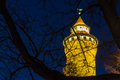 Nuremberg (Nuernberg), Germany-tower Imperial Castle at night Royalty Free Stock Photo