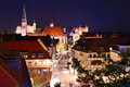 Nuremberg skyline of germany at night Royalty Free Stock Image