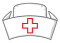 Nurse cap medical white hat nurses hat Royalty Free Stock Image
