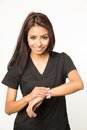 Nurse care giver in scrubs Royalty Free Stock Photo