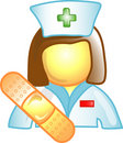 Nurse career icon or symbol Royalty Free Stock Photo