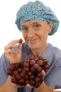 Nurse doctor medical female  vegetables Royalty Free Stock Photo