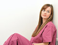 Nurse or doctor - woman - tired Stock Photography