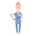 Nurse illustration of a on a white background Stock Image