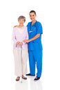 Nurse senior woman Stock Images