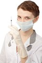 Nurse in sterile gloves Royalty Free Stock Images