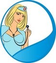 Nurse with stethoscope . Stock Photo