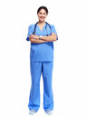 Nurse in uniform with stethoscope Royalty Free Stock Photo