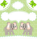 Nursery card of the announcement with elephant Royalty Free Stock Photo