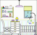Nursery with Furniture and Fittings Stock Photography