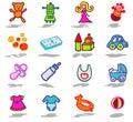 nursery icons set Royalty Free Stock Photo