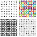 100 nursery icons set vector variant Royalty Free Stock Photo