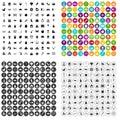 100 nursery school icons set vector variant Royalty Free Stock Photo