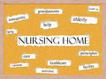 Nursing Home Corkboard Word Concept Royalty Free Stock Photography