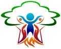 Nurturing nature isolated illustrated logo design Stock Image