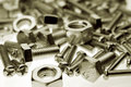 Nut and bolts Royalty Free Stock Image