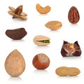 Nut Collection Royalty Free Stock Photography