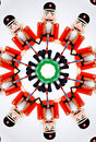 Nut Cracker thru Kaleidoscope Stock Image