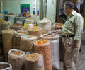 The nut purchaser, Aleppo Souk, Syria Royalty Free Stock Photo