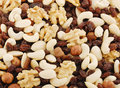 Nut and Raisin Mix Royalty Free Stock Photography