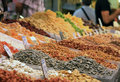 Nut seed stall in a foreign market Stock Images