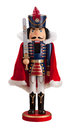 Nutcracker with a cape isolated on white Stock Photography