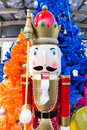 Nutcracker with a christmas backgrounf Royalty Free Stock Images