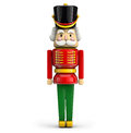Nutcracker christmas soldier symbol toy isolated on white background with clipping path Stock Image