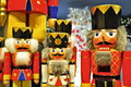 Nutcracker figurines colorful and decorative dolls Royalty Free Stock Photo