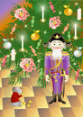 Nutcracker and King of mice (vector) Royalty Free Stock Photo
