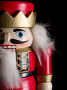 Nutcracker object face close up Stock Photo