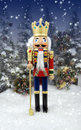 Nutcracker Snow Forest Stock Photos