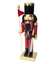 Nutcracker soldier isolated on white background Royalty Free Stock Images