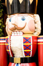 Nutcracker typical wooden figure which breaks the nuts using lever technology in its mouth Stock Photography