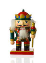 The nutcracker vintage isolated on a white background Royalty Free Stock Images