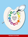The nutrient color palette heart shape eps vector of Royalty Free Stock Photography