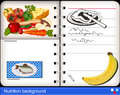 Nutrition background vector image designed as annual planner with photos Royalty Free Stock Photography