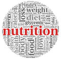 Nutrition concept in tag cloud words on white Royalty Free Stock Photo