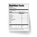 Nutrition facts food label vector Royalty Free Stock Images