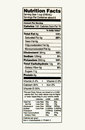 stock image of  Nutrition Facts of whole milk