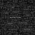 Nutrition seamless pattern word cloud illustration Royalty Free Stock Photography