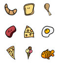 Nutritional icons Stock Photography