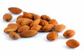 Nuts almonds isolated on a white background Stock Image