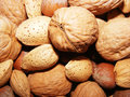 Nuts appetizing mixed close up Royalty Free Stock Image