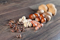 Nuts assortment Stock Photos
