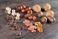 Nuts assortment Royalty Free Stock Photos